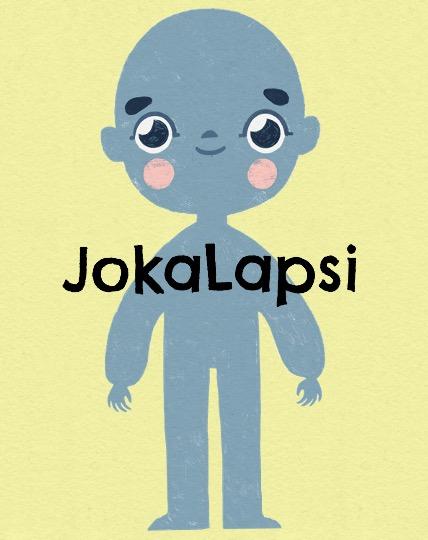 Piirretty lapsihahmo, jossa lukee JokaLapsi